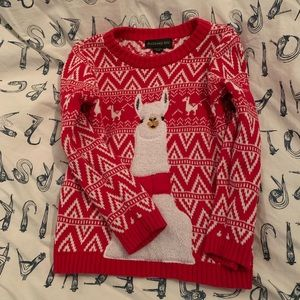 Other - Holiday LLAMA sweater, size 6 boys